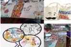 Workshop tassen,frisbees en textielstiften