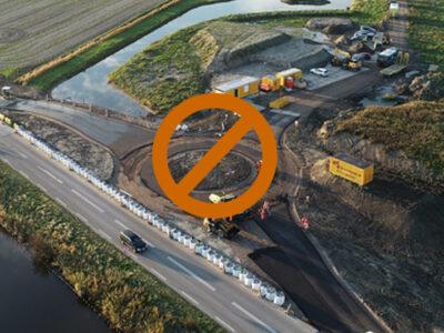 Rotonde Torenweg afgesloten